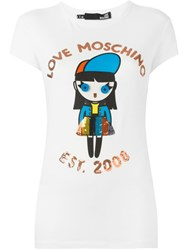 Love Moschino Doll Print T Shirt White