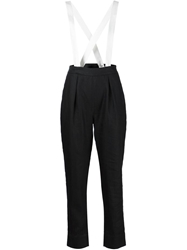 Band Of Outsiders High Waist Brace Trousers Black