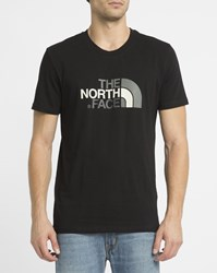 The North Face Black Easy Tee Logo Ss Round Neck T Shirt