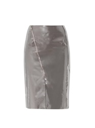 Richard Nicoll Patent Leather Panel Skirt