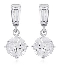 Carat 0.75Ct Brilliant Round Drop Earrings Female