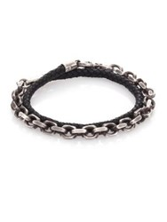 Sterling Silver And Leather Double Wrap Bracelet