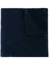 Dolce And Gabbana Ribbed Scarf Blue