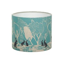 Orwell And Goode Night Woods Hares In Blue Lampshade 10