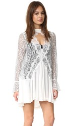 Free People New Tell Tale Lace Tunic Dress Ivory