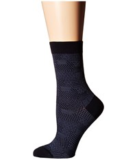 Falke Patch Made Dark Navy Women's Crew Cut Socks Shoes