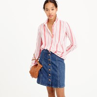 J.Crew Tall Classic Popover Shirt In Striped Cotton Gauze