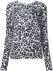 Joie Leopard Print Pullover Grey