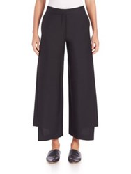 Acne Studios Layered Wide Leg Trousers Black