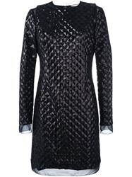 Ungaro Emanuel Sequined Quilted Dress Black