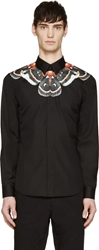 Givenchy Black Butterfly Neck Shirt