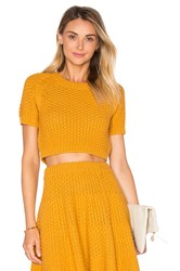Lovers Friends Be Flirty Crop Top Yellow