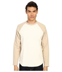 Billy Reid Baseball Pullover Natural Sand Men's Sweatshirt Multi