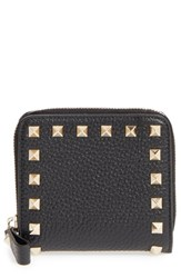 Valentino Women's 'Rockstud' Calfskin Leather Zip Around Wallet