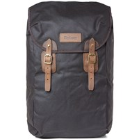 Barbour Wax Leather Backpack Green