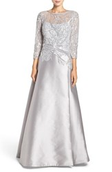 Rickie Freeman For Teri Jon Women's Mixed Media Ballgown