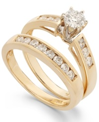 Macy's Diamond Bridal Set In 14K Gold 9 10 Ct. T.W.