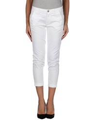 7 For All Mankind Trousers 3 4 Length Trousers Women White