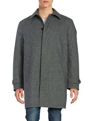Lauren Ralph Lauren Textured Zip Front Jacket Grey