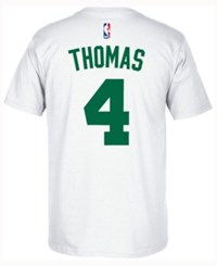 Adidas Men's Isaiah Thomas Boston Celtics Player T Shirt White