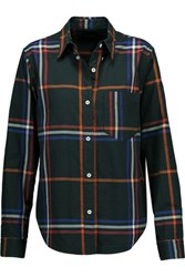 Isabel Marant Thom Checked Cotton Shirt Dark Green