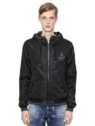 Dolce And Gabbana Crown Bee Crest Hooded Nylon Jacket