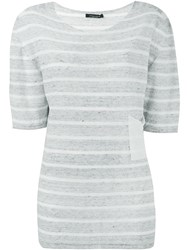 Roberto Collina Striped Top Grey