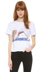 Anna K Downward Dog Angel Baby Tee Multi