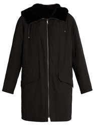 Yves Salomon Reversible Nylon And Mink Parka Black