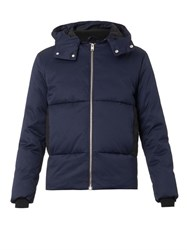 Balenciaga Hooded Down Jacket Blue