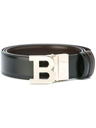 Bally Logo Plaque Belt Black