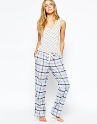 Jack Wills Ryhill Flannel Pyjama Trousers Blueandpeach