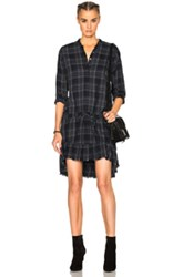 Nsf Sasia Dress In Blue Checkered And Plaid Blue Checkered And Plaid