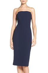 Jill Stuart Women's Strapless Midi Dress Ink