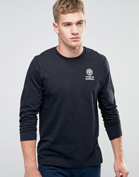 Franklin And Marshall Crest Logo Long Sleeve T Shirt Black