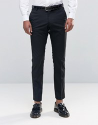 Selected Homme Tuxedo Suit Trousers With Stretch In Slim Fit Black