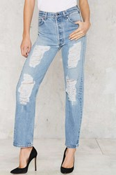 Nasty Gal After Party Vintage Levi's 501 Jeans Distressed