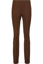 Donna Karan Stretch Jersey Leggings Brown