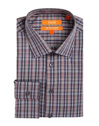 Tallia Orange Plaid Dress Shirt Grey