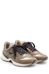 Brunello Cucinelli Leather And Suede Sneakers Grey