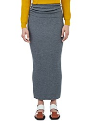 Stella Mccartney Long Ribbed Knit Tube Skirt Grey