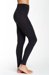 Shimera Fleece Lined Footless Tights Black