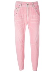 Diesel Cropped Jeans Pink And Purple