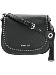Michael Michael Kors 'Brooklyn' Saddle Bag Black