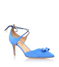 Salvatore Ferragamo Carolyn Pointed Mid Heel Court Shoe Female Blue