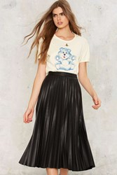 Nasty Gal Eliana Vegan Leather Skirt Black