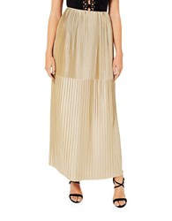 Miss Selfridge Gold Pleat Maxi Skirt
