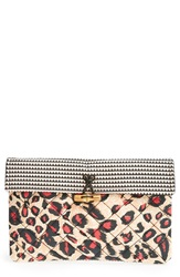 Maison Scotch Quilted Clutch Pink Multi