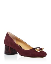 Michael Michael Kors Gloria Mid Heel Pumps Plum Gold