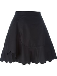 See By Chloe Scalloped Hem Skirt Black